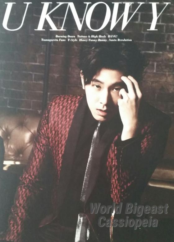 (Album) ~ U KNOW Y ~ (Yunho) (July 8, 2015) [Japanese]  CD 1.Burning Down 2. Tattoos & High Heels 3. BANG! 4. Tethered Boat 5. T-Style 6. Honey Funny Bunny (Japanese ver.) 7. Santa Revolution  DVD 1. Burning Down (Video Vlip) 2. Jacket Making Movie 3. Off Shot Movie 4. Mini AL Music Introduction